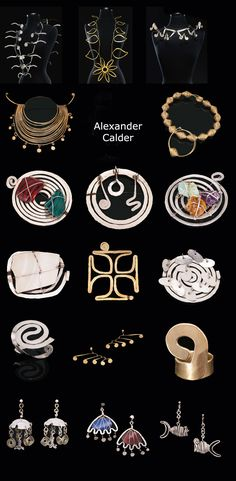 Property of the Makler Family collection of Calder Jewelry || Recently auctioned by Sotheby's.  The above pieces together fetched nearly 14 million US$