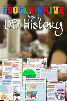 Great digital resources for American History! Hundreds of activities using Google Classroom!