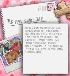 Valentine's Day Note for Mary Gordys Juliá from Lilian de Juliá on 3MillionDogs.com