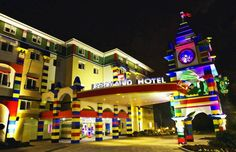 The first Lego themed hotel in Carlsbad – California. It is scheduled to open on April 5, 2013. The three-storey hotel will have 250 rooms and a host of shapes, built entirely from parts designer.