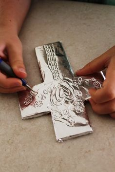 Kids can create the look of a traditional Spanish tin cross with a little foam and tin foil! This would make a great craft to accompany a story involving the Spanish missionaries in the Americas! http://www.catholicchild.com/ENCOUNTER-THE-SAINTSbriSAINT-JUAN-DIEGObrAnd-Our-Lady-of-Guadalupe_i/productinfo/11208/