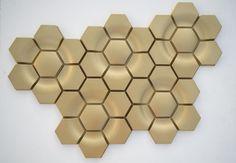 'WA' by KAZA Concrete in metallic ( Inherited Serendipity / Gold ) Basic Colors, Colours, Metallic Colors, Tile Design, Serendipity, Concrete, Textiles, Detail, Pattern