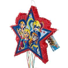 Dc Super Hero Girls Pinata, Pull String By Unique Wonder Woman Birthday, Wonder Woman Party, Birthday Woman, 5th Birthday, Birthday Ideas, Superhero Party Decorations, Girl Superhero Party, Party Themes, Party Ideas