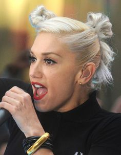 gwen stefani updos | Gwen Stefani's Double Bun Updo: Thumbs Up Or Thumbs Down?
