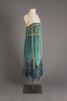 Glass Beaded and Metallic Embroidered Velvet Evening Dress, ca. 1926  Callot Soeurs