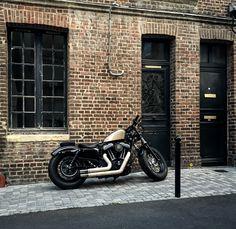 Motorbike in Honfleur France