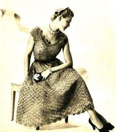 Vintage Crochet Pattern PDF 1950.S Womens Scoop by Knittingknitch, $3.00