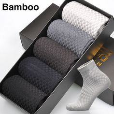 Bamboo Fiber Men Socks Brand New Anti-Bacterial Brethable Deodorant Warm Soft Comfortable High Quality Sock 5 Pairs / Lot *** Click the VISIT button to view the details