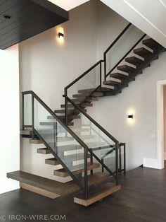 Modern Railings, Custom Stairs Chicago, Modern Staircase design Chicago, Custom Stair Design, Custom Furniture - STAIRS & RAILINGS http://www.iron-wire.com/custom_stairs_railings via format.com