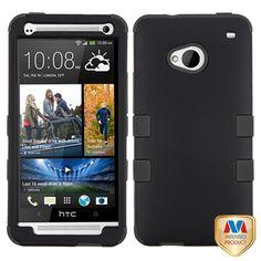 MYBAT TUFF Hybrid Case for HTC One M7 - Rubberized Black