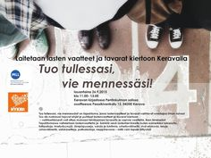 kiertoidea -  recycled ideas: Lastenvaatteiden vaihtopäivä -  Clothes swap!