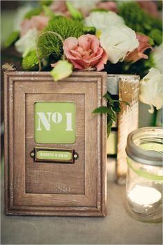 table number ideas for your wedding reception tables
