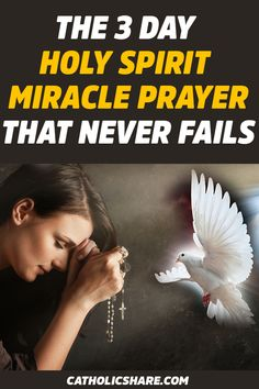The 3 Day Holy Spirit Miracle Prayer That Never Fails Prayer Scriptures, Faith Prayer, God Prayer, Power Of Prayer, Prayer Quotes, Faith In God, Prayer Of The Day, Exam Prayer, Prayer Board