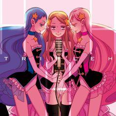 Triple H mawaru Manga Art, Manga Anime, Anime Art, Panty And Stocking Anime, Azumanga Daioh, Triple H, Cozy Sweaters, Magical Girl, Doujinshi