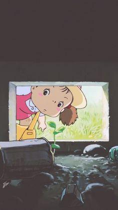 My Neighbour Totoro Hayao Miyazaki, Studio Ghibli Art, Studio Ghibli Movies, Disney Wallpaper, Cartoon Wallpaper, Animes Wallpapers, Cute Wallpapers, Film Animation Japonais, Studio Ghibli Background