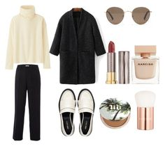 """""""black&white + essentials"""" by visi0n-s on Polyvore featuring Uniqlo, White Stuff, Nine West, WithChic, Madewell, Urban Decay, Narciso Rodriguez y Lancôme"""