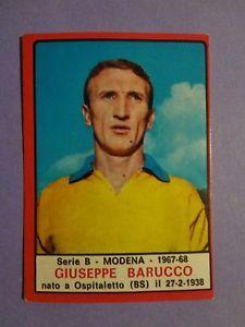 FIGURINA-PANINI-CALCIATORI-MODENA-BARUCCO-1967-68-REC-FIO
