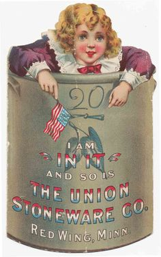 Union Stoneware Co., Red Wing, Minnesota - Victorian Trade Card   Sold for $107.50 on 12/29/2014
