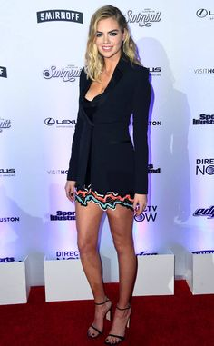 Little Boring Dress from Fashion Police  Kate Upton is seriously underwhelming while celebrating her three covers of the 2017 Sports Illustrated Swimsuit issue at the magazine's launch event. Despite the colorful hem, the supermodel makes us yawn in a boring Versace cocktail dress and tuxedo blazer. You would think she'd want to spice it up a bit more on her big night.