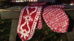 Strömsö-lapaset Knitted Gloves, Mittens, Knit Crochet, Knitting Patterns, Winter Hats, Beanie, Diy, Inspiration, Knits