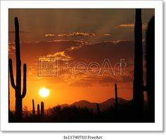 Arizona Art Print Home Decor Wall Art Poster D Sunset Vista Of Sedona