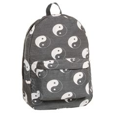 YINYANG BACKPACK ($60) ❤ liked on Polyvore featuring bags, backpacks, accessories, bolsas, peace backpack, peace sign bag, knapsack bag, day pack backpack and backpack bags