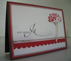 Wedding card - stampin with beemybear