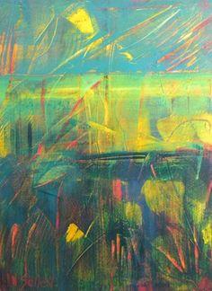 """Saatchi Online Artist gordon sellen; Painting, """"Wetlands    (sold)"""" #art"""