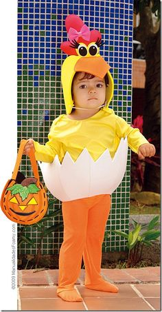 pollito-01 Fruit Costumes, Diy Baby Costumes, Chicken Costumes, Halloween Party Costumes, Cool Costumes, Fairy Wings Costume, Bird Costume, Flower Costume, Baby Fancy Dress