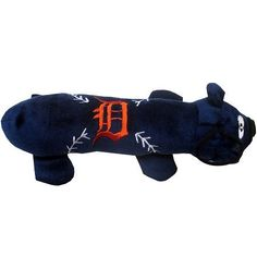 Detroit TIGERS MLB Plush Tube Squeaker Toy