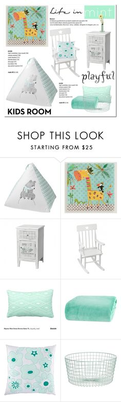 """Life in Mint"" by cruzeirodotejo ❤ liked on Polyvore featuring interior, interiors, interior design, home, home decor, interior decorating, Bloomingville, Cost Plus World Market, Berkshire Blanket and CB2"