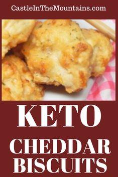 Keto Cheddar Biscuits - New Site Keto Foods, Keto Diet Drinks, Keto Recipes, Bread Recipes, Flour Recipes, Keto Desserts, Keto Snacks, Crockpot Recipes, Dinner Recipes