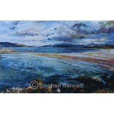 Limited edition print from a painting of Narin Beach near Ardara by Stephen Bennett, limited to a run of 150 prints each signed and numbered by the artist. Wild Atlantic Way, Irish Art, Donegal, Limited Edition Prints, Art Prints, Beach, Artist, Painting, Art Impressions