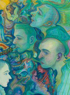 Steven Shearer The Diminutive Muralist (detail), 2014 Oil on canvas, artist's frame x 113 cm Psychadelic Art, Quirky Art, Ap Art, Winter Art, People Art, Art Drawings Sketches, Pretty Art, Art Inspo, Painting & Drawing