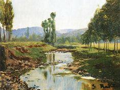 Landscape (Santiago Rusiñol Prats) Pick Art, Famous Artwork, Ideal Beauty, Garden Painting, Landscape Paintings, Free Images, Spanish, Wallpaper, Drawings