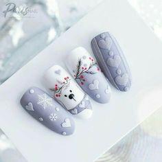 Christmas Gel Nails, Christmas Nail Art, Holiday Nails, Fall Nails, Summer Nails, Xmas Nail Designs, Acrylic Nail Designs, Nail Art Designs, Nails Design