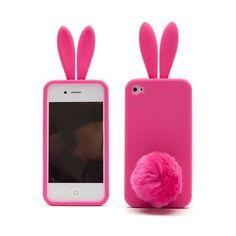 Coque iPhone 4 lapinos rose