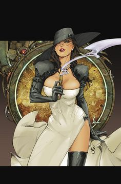 Madame Mirage by Kenneth Rocafort Comic Book Publishers, Comic Book Artists, Comic Books Art, Marvel Comic Character, Character Art, Character Reference, Character Portraits, Comic Art Community, Top Cow