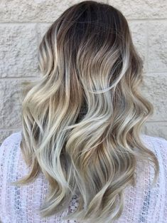 High Contrast Hair Color Blonde Balayage Hairstyles 2018