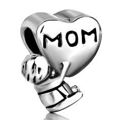 Pugster Moms Baby Heart Bead Fit Pandora Charms Chrismtas Gifts For Mother (bestseller)