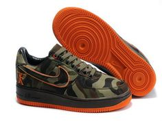 Nike Air Force 1 Camo Gore Tex ATF Bespoke By All Day Camouflage Swoosh - Click Image to Close