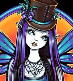 Rhapsody Absinthe Steampunk Sunset X 19 inch by MykaJelina Dark Disney, Goth Art, Fairy Art, Adult Coloring Pages, Faeries, Female Art, Steampunk, Mermaids, Art Prints