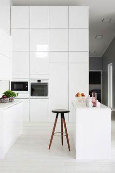 New kitchen ideas vintage modern interior design 64 Ideas High Gloss White Kitchen, White Kitchen Interior, All White Kitchen, Interior Design Kitchen, Modern Interior Design, New Kitchen, Vintage Kitchen, Kitchen Decor, Interior Decorating