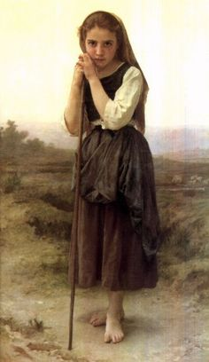 A Little Shepherdess (1891), by William-Adolphe Bouguereau (1825-1905) is in a private collection