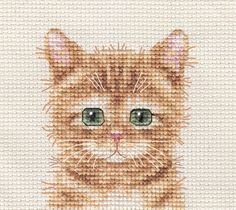 GINGER CAT, KITTEN ~ Full counted cross stitch kit + All materials   | eBay