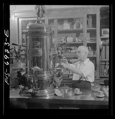 The old espresso machine in Cafe Reggio