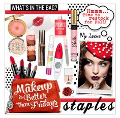 """""""Makeup Bag Staples"""" by theseapearl ❤ liked on Polyvore featuring beauty, MAC Cosmetics, Physicians Formula, Smashbox, L. Erickson, NARS Cosmetics, NYX, Rimmel, Too Faced Cosmetics and tenoverten"""