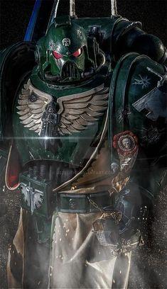 Dark Vengeance by Dezelith on DeviantArt Warhammer Dark Angels, Dark Angels 40k, Dark Vengeance, Warhammer 40k Art, Warhammer Fantasy, Minis, Angel Of Death, The Grim, Space Marine