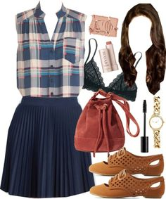 Spencer Hastings inspired outfit with requested skirt by liarsstyle featuring a pattern tank top
