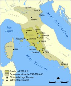 Etruscan civilization is the modern English name given to the culture and way of life of a people of ancient Italy and Corsica whom the ancient Romans called Etrusci or Tusci. The origins of the Etruscans. Ancient Rome, Ancient History, Etruscan Language, Roman Names, France Culture, Rome Antique, Modern Names, European History, World Maps